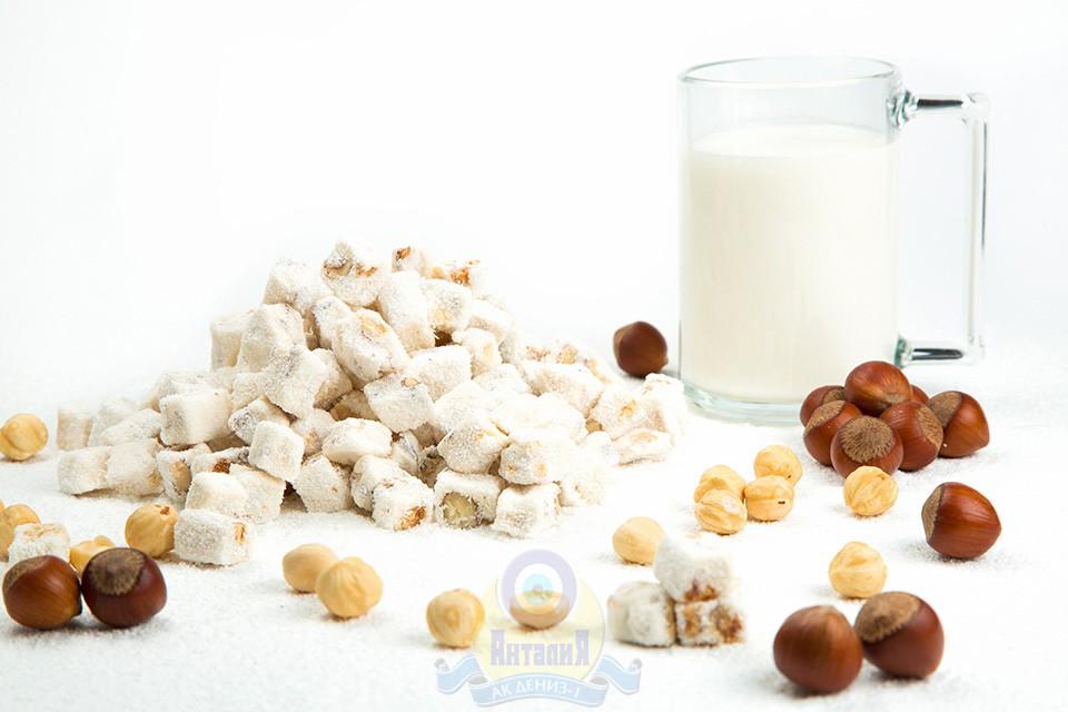 Лукум молочный с фундуком двойной обжарки